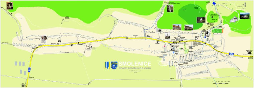 mapa Smoleníc